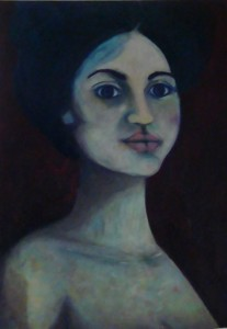 oil on canvas, 70cm x 80cm, 2013, €700 belfast lady, goya