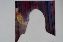 blackstaff mills belfast montage image of girl silhoutte cut from weaving loom.