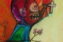 cross, red door, cherry blossom, ladder, sugar skull, water source, waiting, tear, cycllops, pink, blake