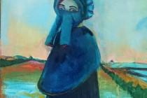 gasmask, landscape, female, bretton dress, straightjacket, filter, eyes france.